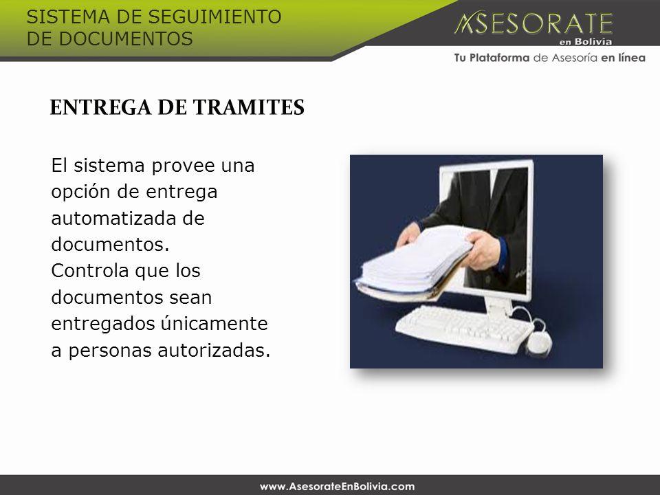 SISTEMA DE SEGUIMIENTO DE DOCUMENTOS