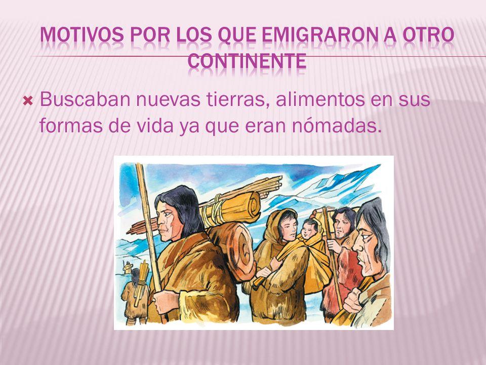 Motivos por los que emigraron a otro continente