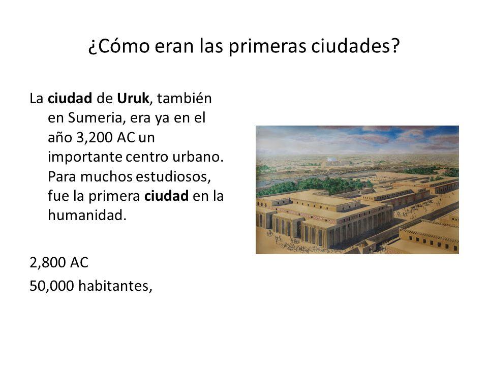 ¿Cómo eran las primeras ciudades