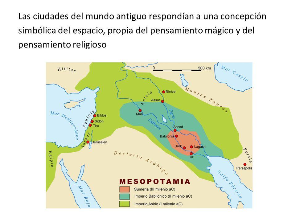 Las ciudades del mundo antiguo respondían a una concepción
