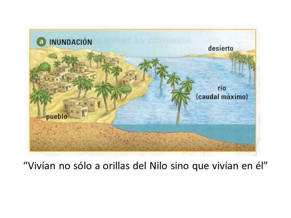 Vivían no sólo a orillas del Nilo sino que vivían en él