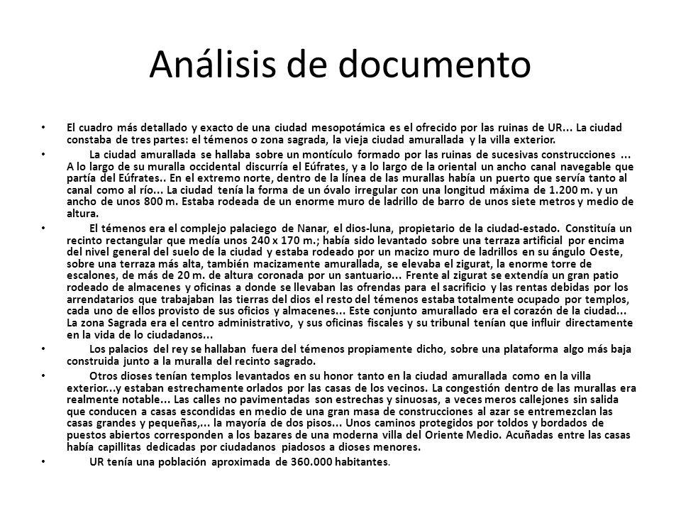 Análisis de documento