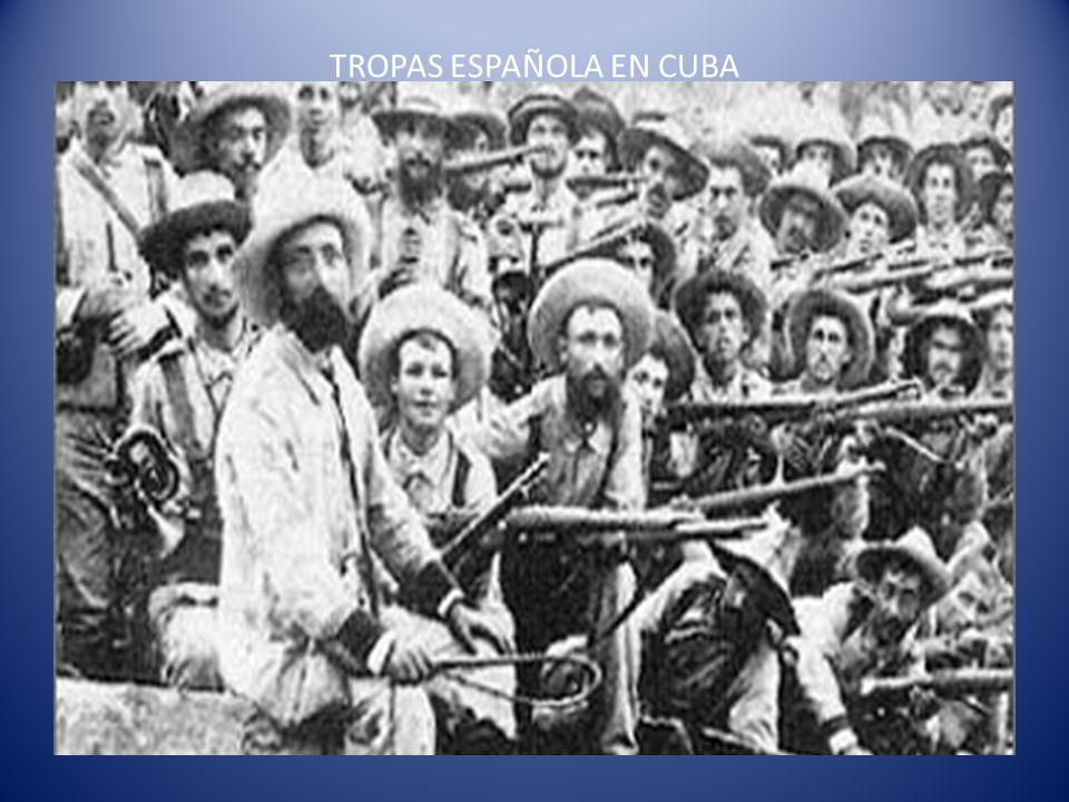 TROPAS ESPAÑOLA EN CUBA