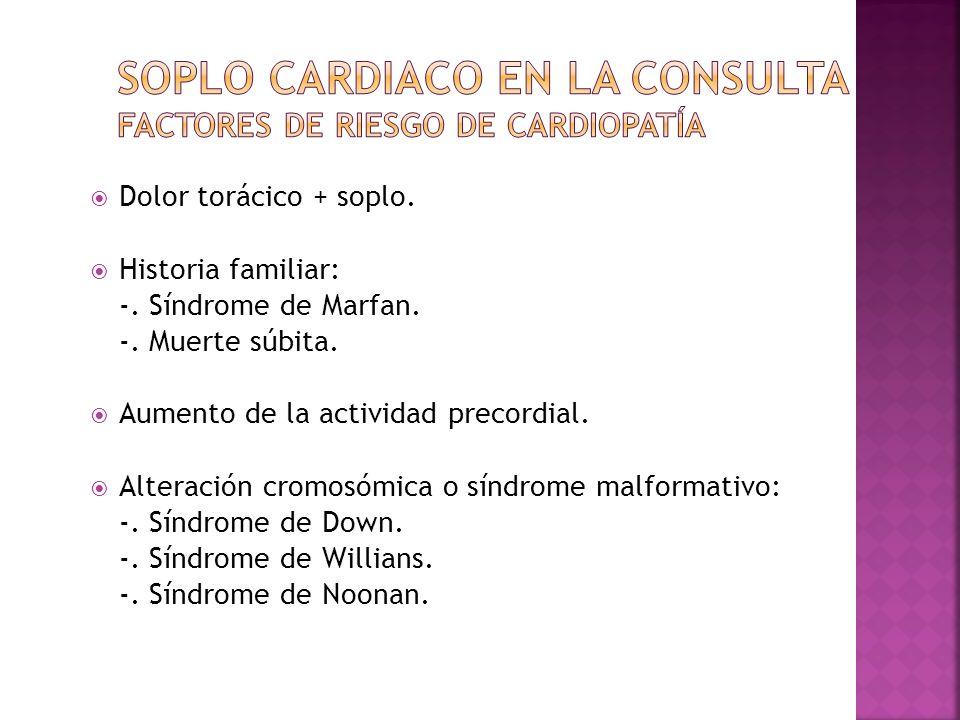 Soplo cardiaco en la consulta Factores de riesgo de cardiopatía