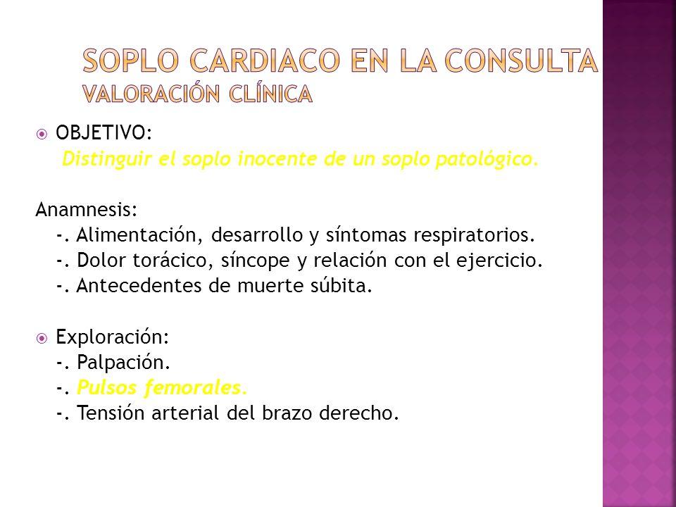 Soplo cardiaco en la consulta Valoración clínica