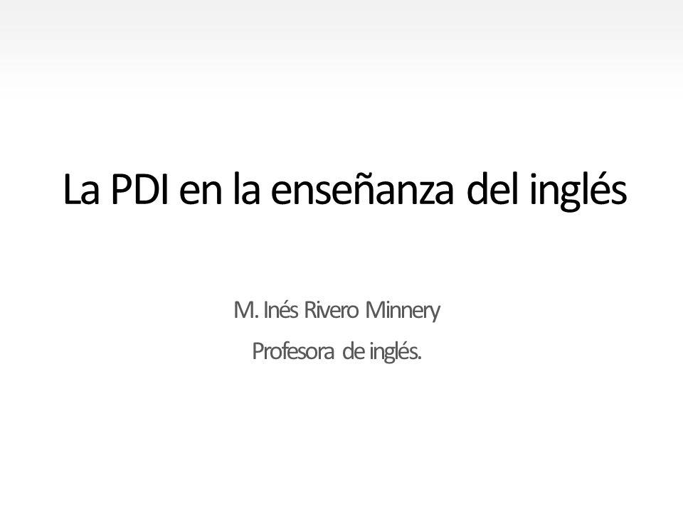 La PDI en la enseñanza del inglés