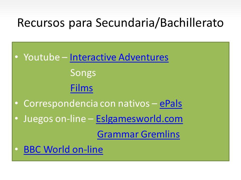 Recursos para Secundaria/Bachillerato