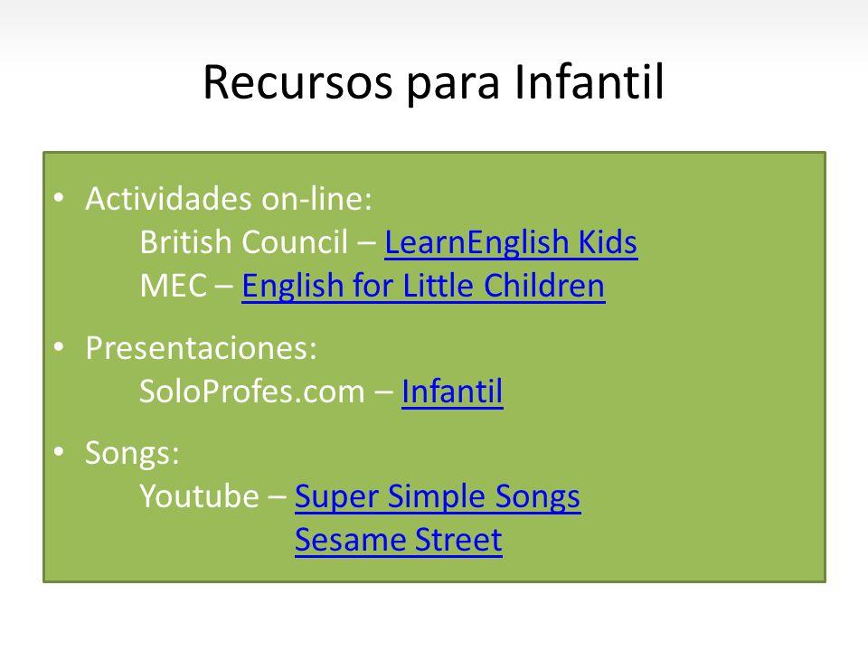 Recursos para Infantil