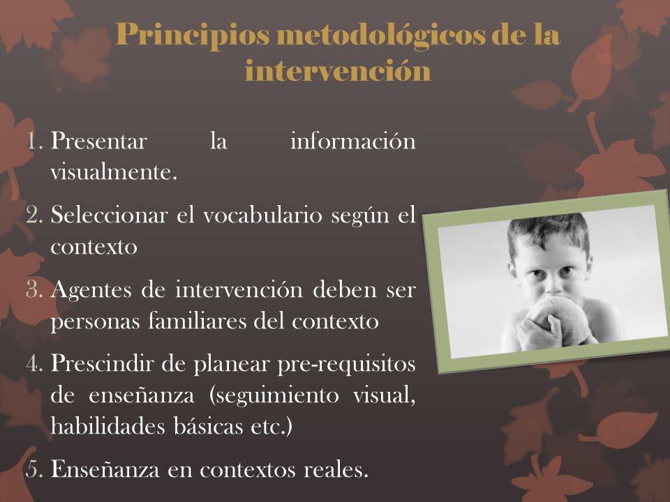 Principios metodológicos de la intervención