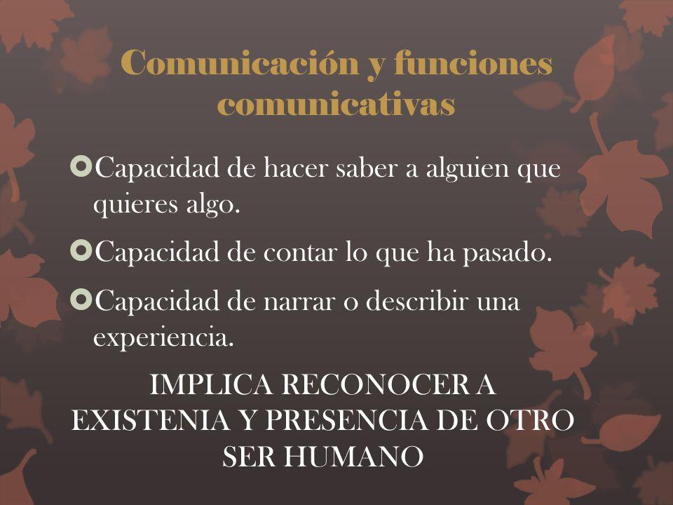 Comunicación y funciones comunicativas