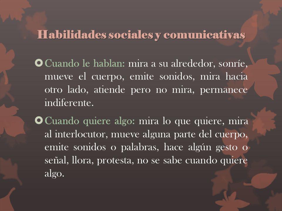 Habilidades sociales y comunicativas