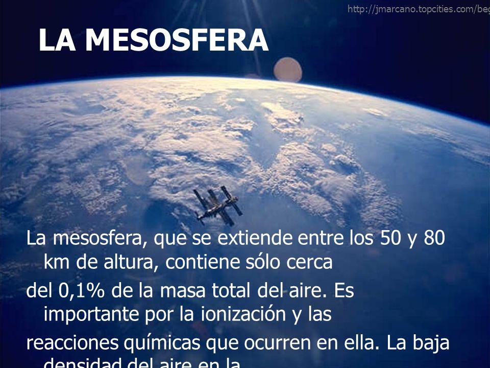 http://jmarcano.topcities.com/beginner/exos_big.html LA MESOSFERA.