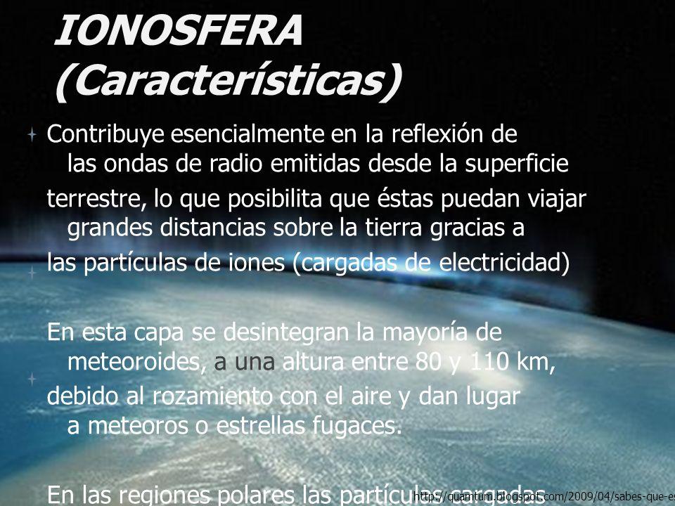 IONOSFERA (Características)