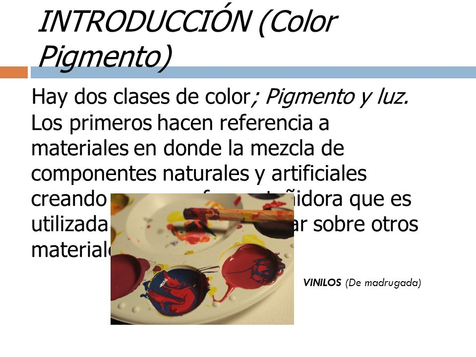 INTRODUCCIÓN (Color Pigmento)