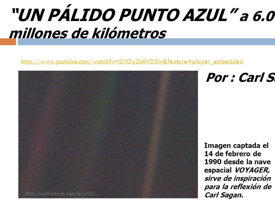 UN PÁLIDO PUNTO AZUL a 6.000 millones de kilómetros