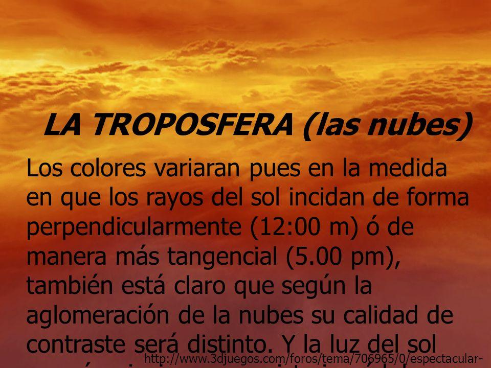 LA TROPOSFERA (las nubes)