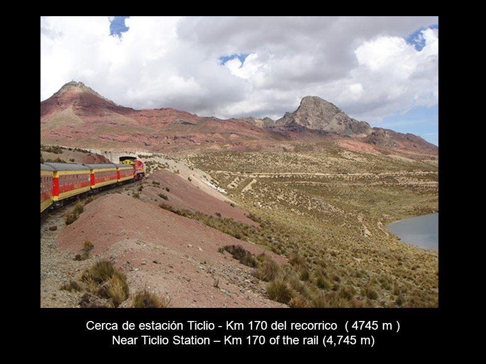 Cerca de estación Ticlio - Km 170 del recorrico ( 4745 m )