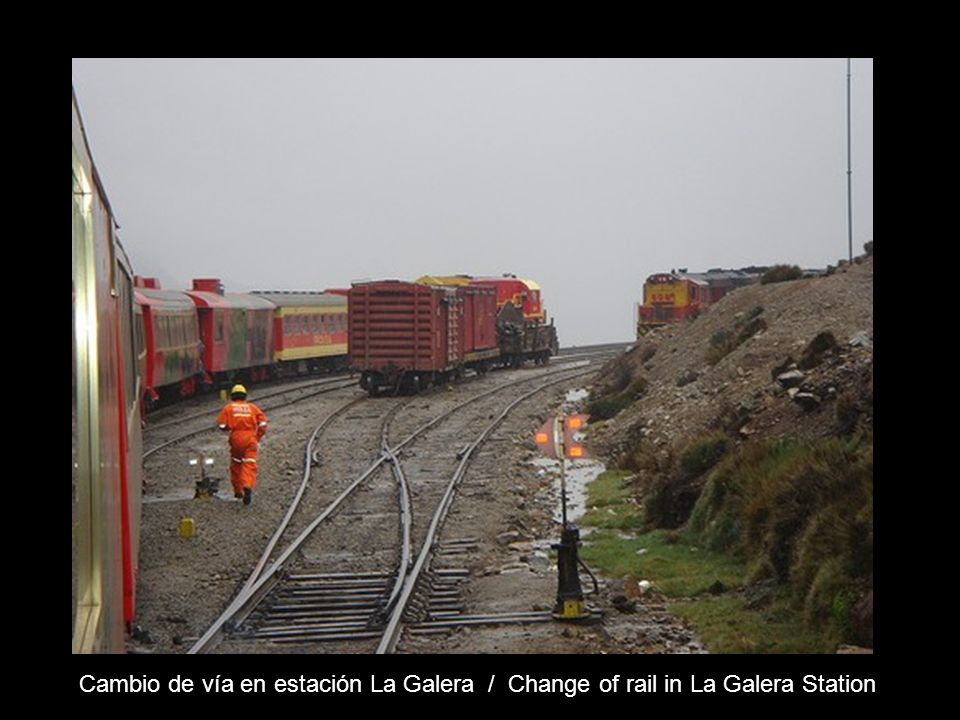 Cambio de vía en estación La Galera / Change of rail in La Galera Station