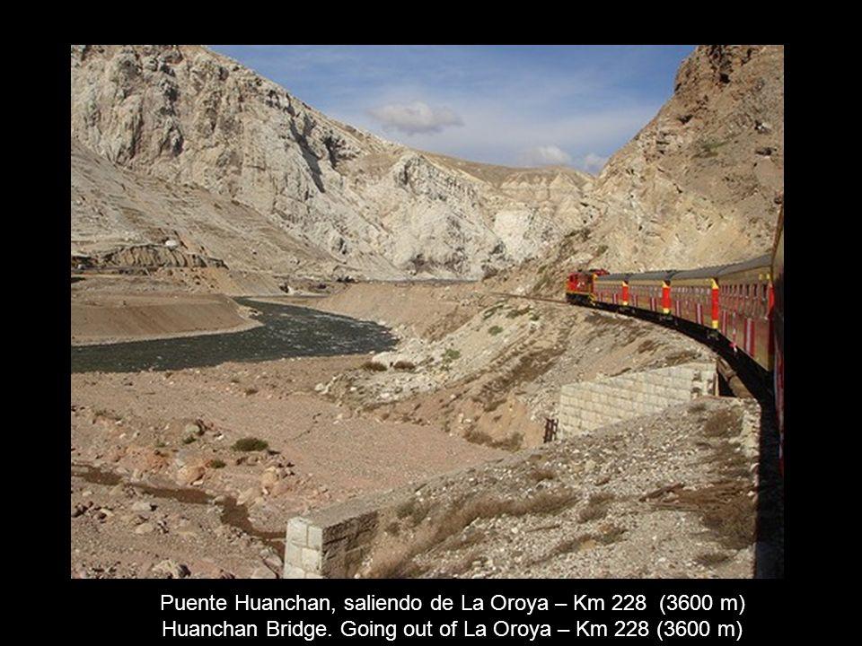 Puente Huanchan, saliendo de La Oroya – Km 228 (3600 m)