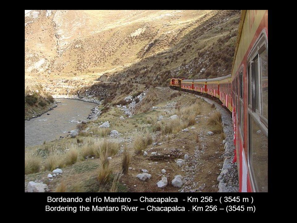 Bordeando el río Mantaro – Chacapalca - Km 256 - ( 3545 m )