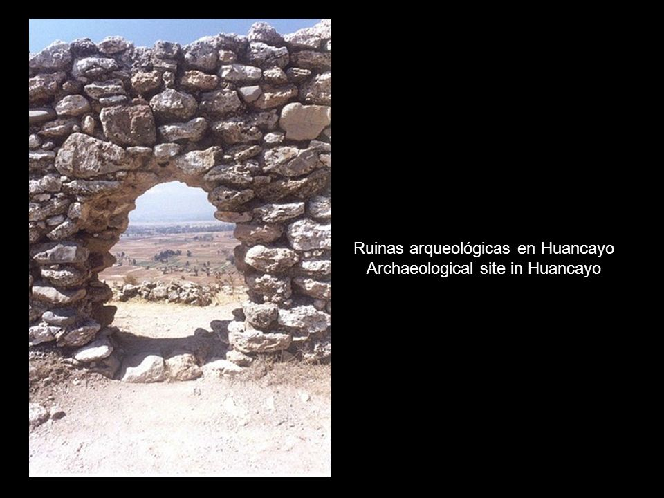 Ruinas arqueológicas en Huancayo Archaeological site in Huancayo