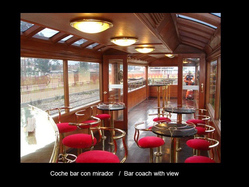 Coche bar con mirador / Bar coach with view