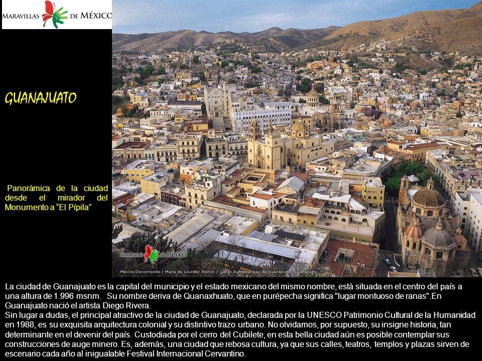 GUANAJUATO Panorámica de la ciudad desde el mirador del Monumento a El Pípila