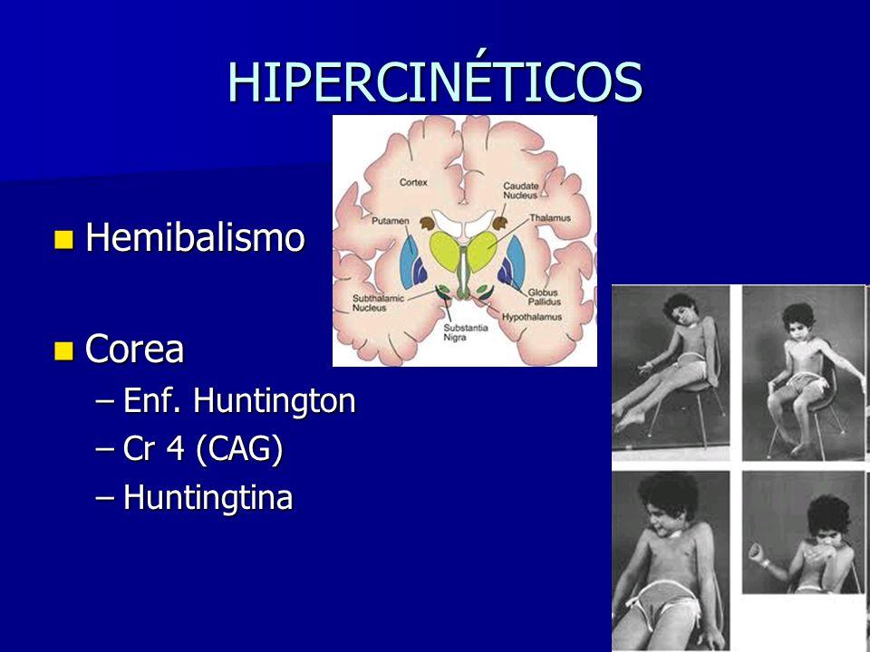 HIPERCINÉTICOS Hemibalismo Corea Enf. Huntington Cr 4 (CAG)