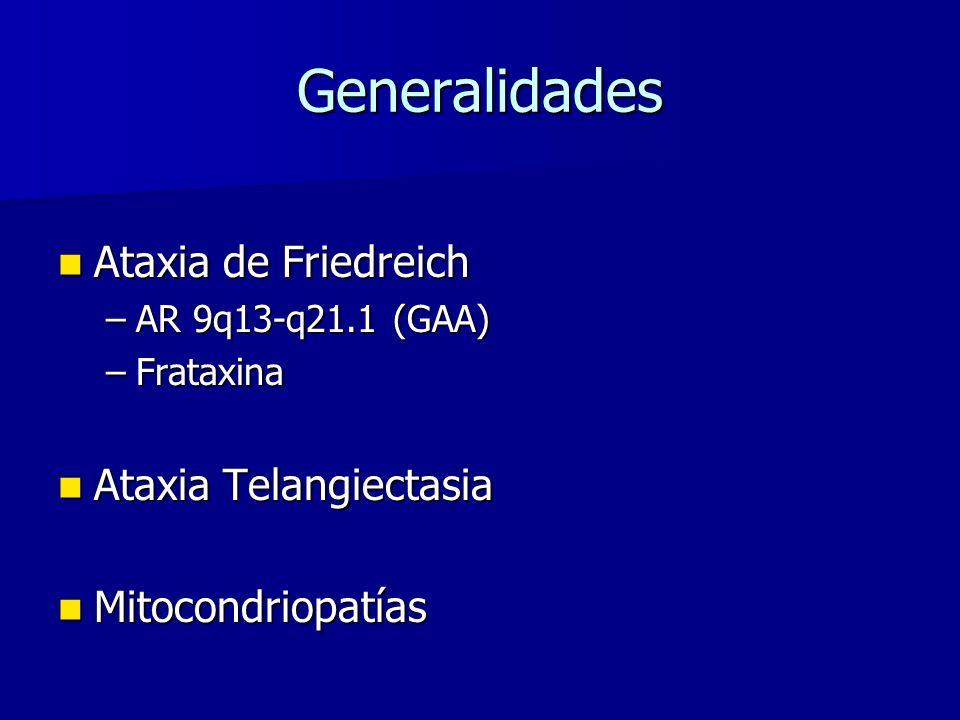 Generalidades Ataxia de Friedreich Ataxia Telangiectasia