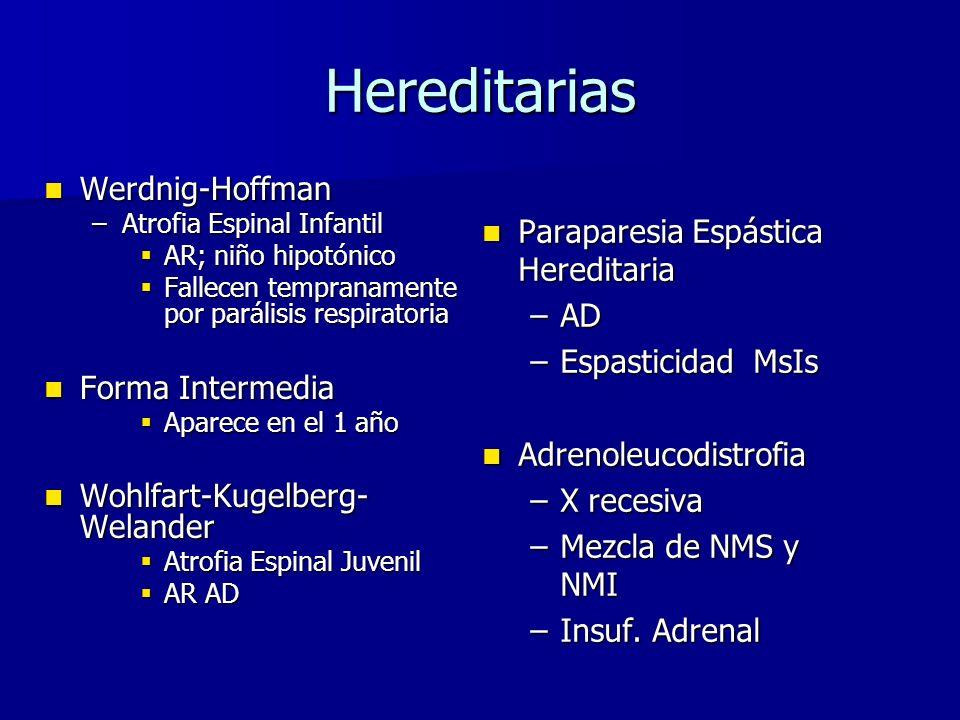 Hereditarias Werdnig-Hoffman Paraparesia Espástica Hereditaria AD