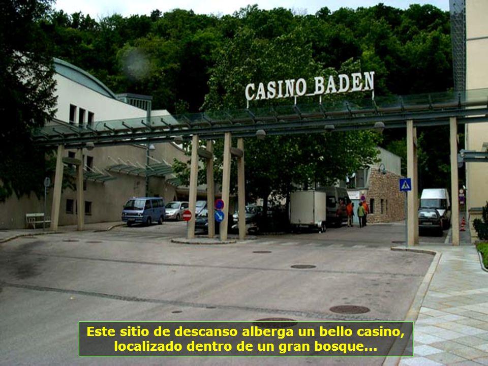 Este sitio de descanso alberga un bello casino, localizado dentro de un gran bosque...