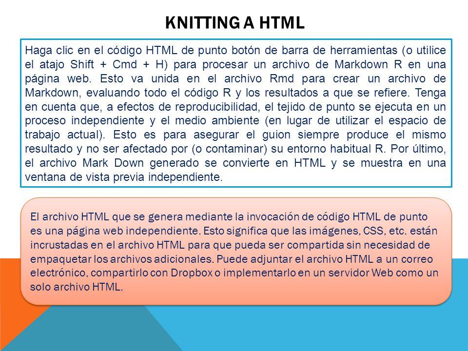 Knitting a HTML