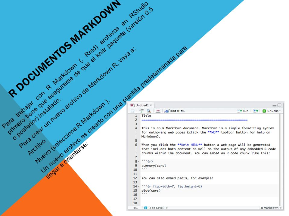 R Documentos Markdown