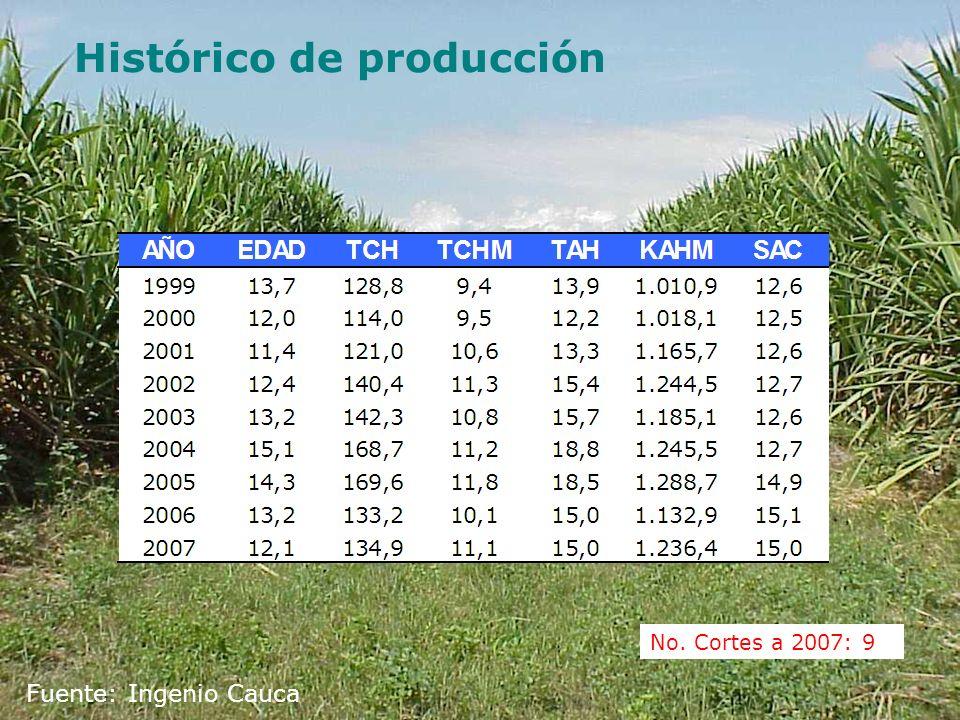 Histórico de producción