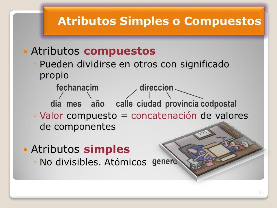 Atributos Simples o Compuestos