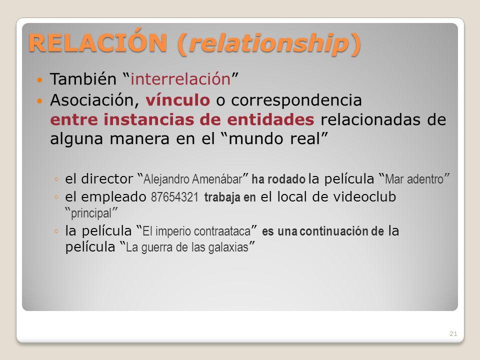 RELACIÓN (relationship)