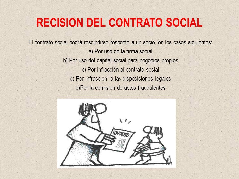 RECISION DEL CONTRATO SOCIAL
