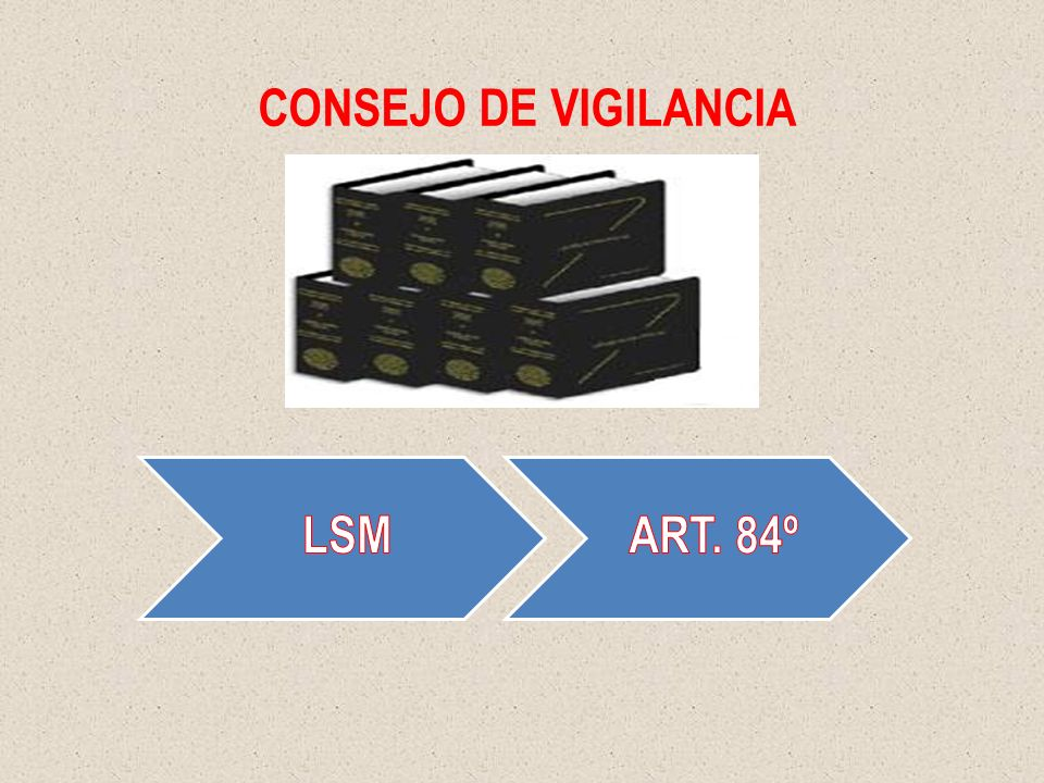CONSEJO DE VIGILANCIA LSM ART. 84º