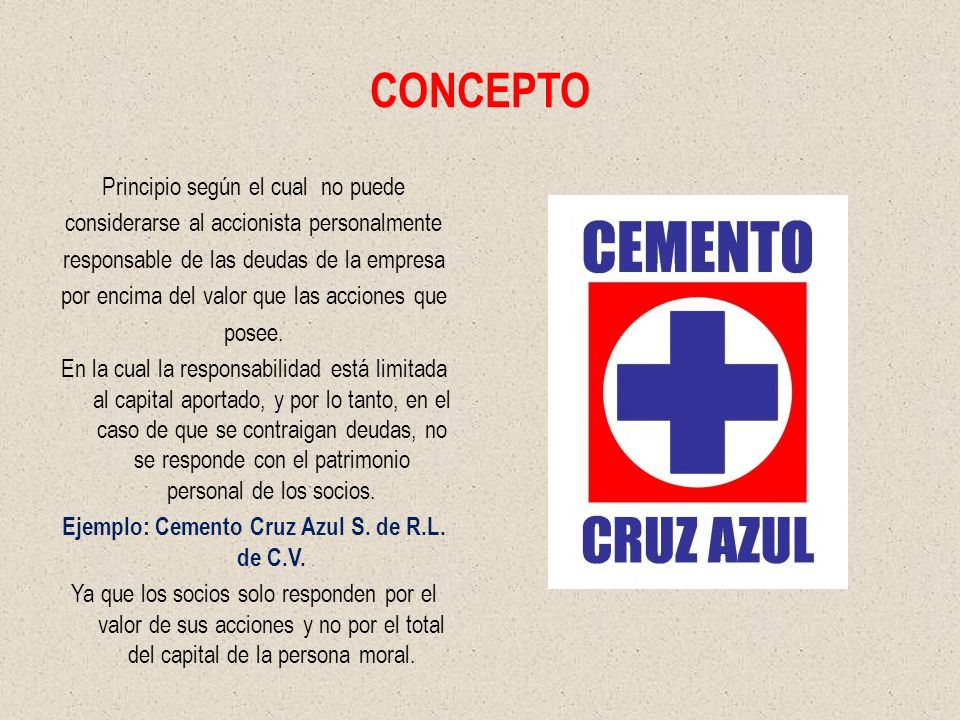 Ejemplo: Cemento Cruz Azul S. de R.L. de C.V.