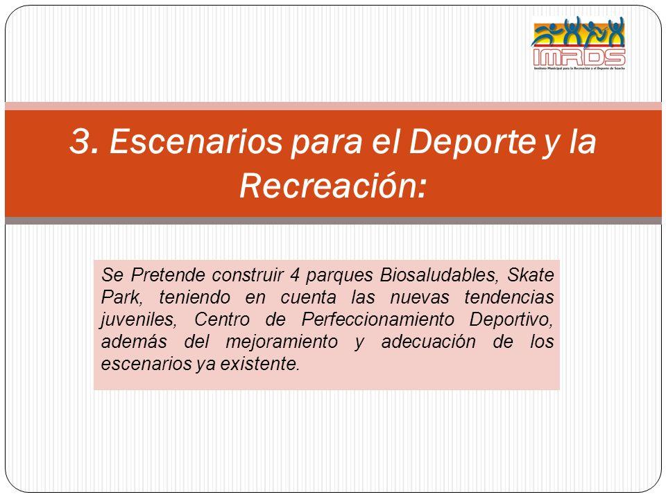 3. Escenarios para el Deporte y la Recreación: