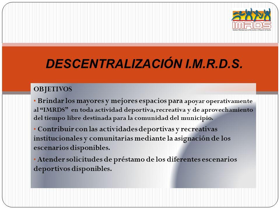 DESCENTRALIZACIÓN I.M.R.D.S.