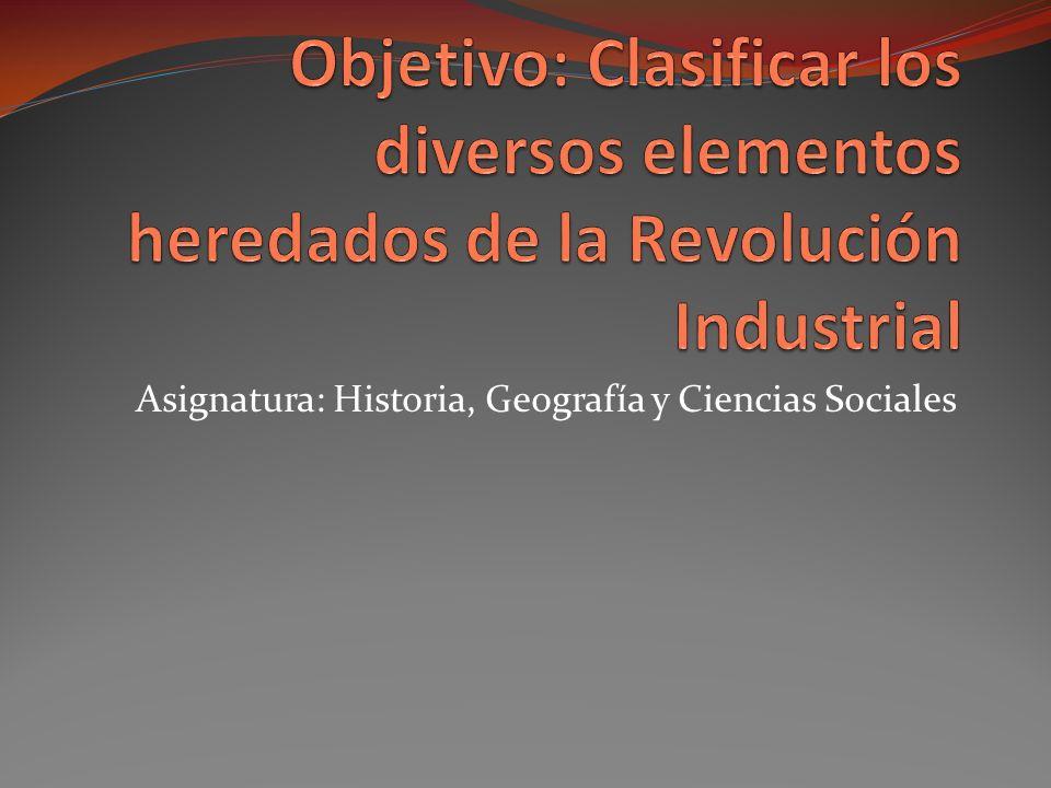 Asignatura: Historia, Geografía y Ciencias Sociales