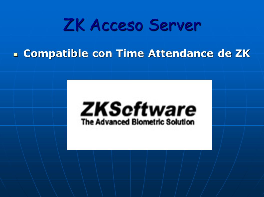 ZK Acceso Server Compatible con Time Attendance de ZK
