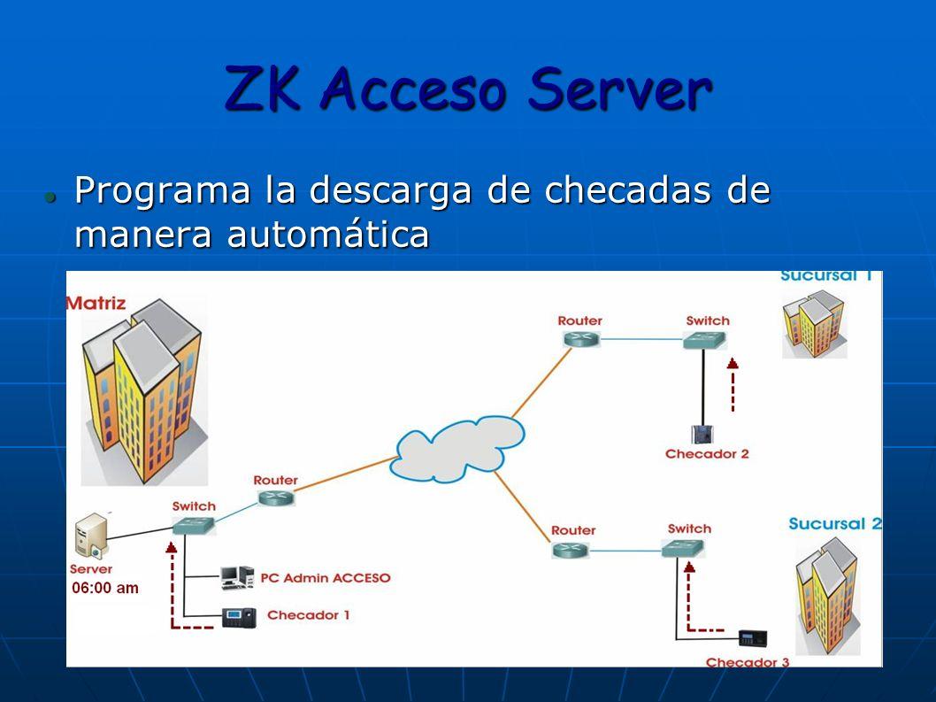 ZK Acceso Server Programa la descarga de checadas de manera automática