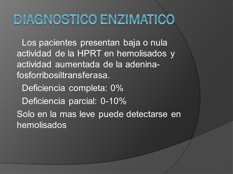 DIAGNOSTICO ENZIMATICO