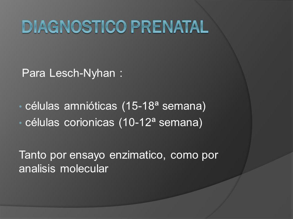 DIAGNOSTICO PRENATAL Para Lesch-Nyhan :