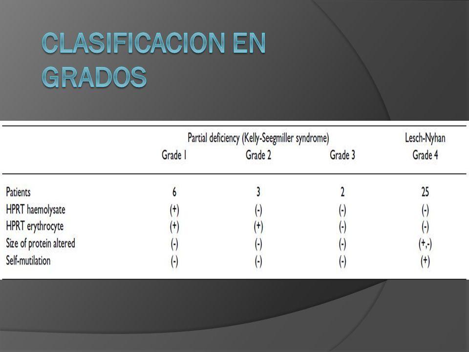 CLASIFICACION EN GRADOS