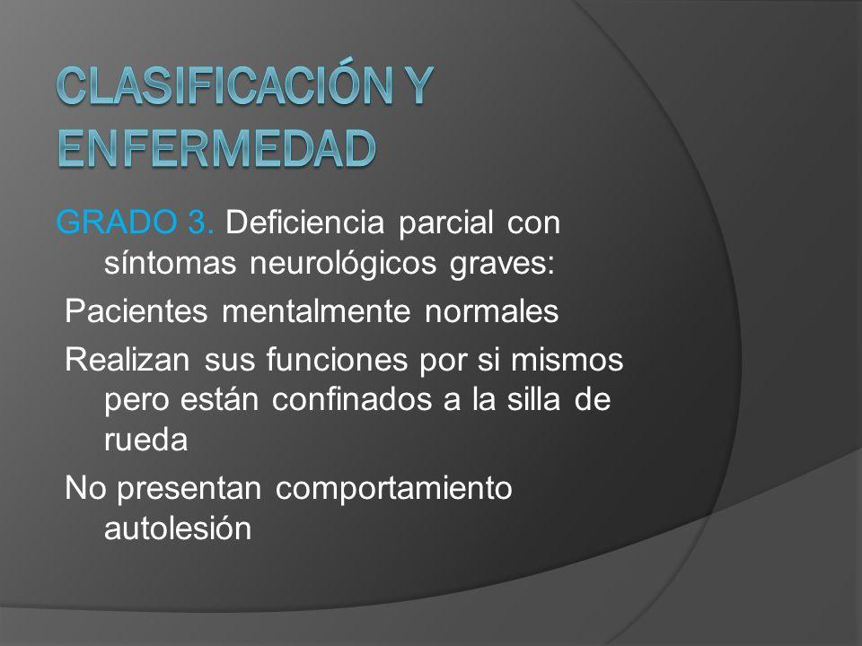 CLASIFICACIÓN Y ENFERMEDAD