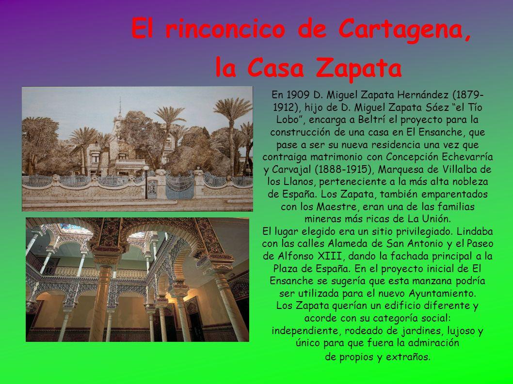 El rinconcico de Cartagena, la Casa Zapata