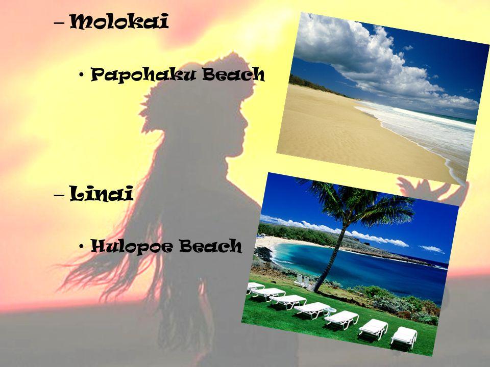 Molokai Papohaku Beach Linai Hulopoe Beach